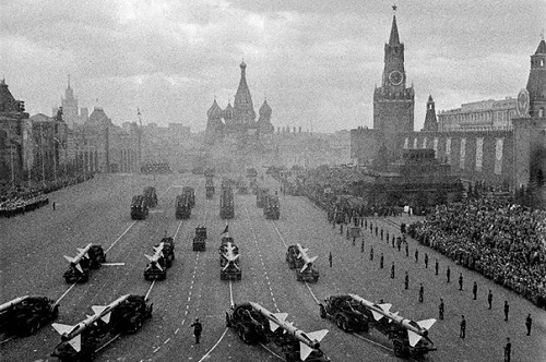 Red Square, parade, 1960s