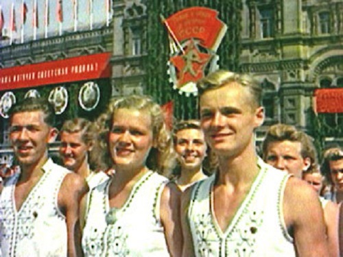 All-Union parade of athletes. August 12, 1945