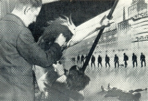 Boris Knoblok working on a poster, 1930s