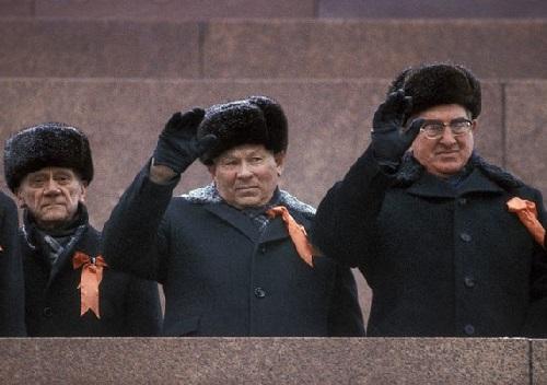 Chernenko (center), Andropov (right)