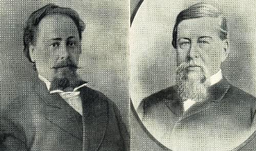 Knoblok's grandfather Heinrich-Otto Simes, a tailor (left), Great-grandfather Robert Henry Knoblok