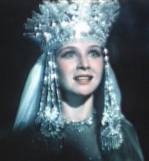 Soviet actress Ninel Myshkova in Sadko, 1952