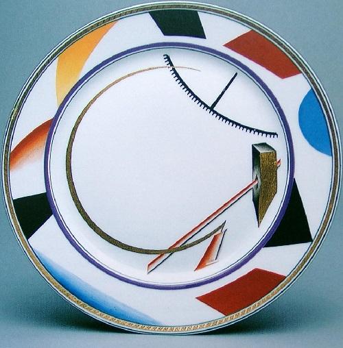 Plate Soviet propaganda porcelain