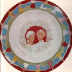 'Wedding' Dish. Porcelain of 1923. Artist Kuzma Petrov-Vodkin