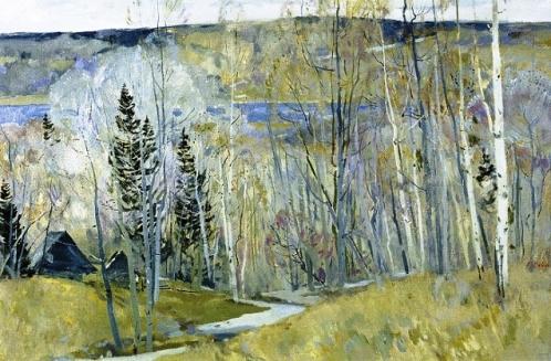 April smog, 1992. Soviet artist Pyotr Fomin