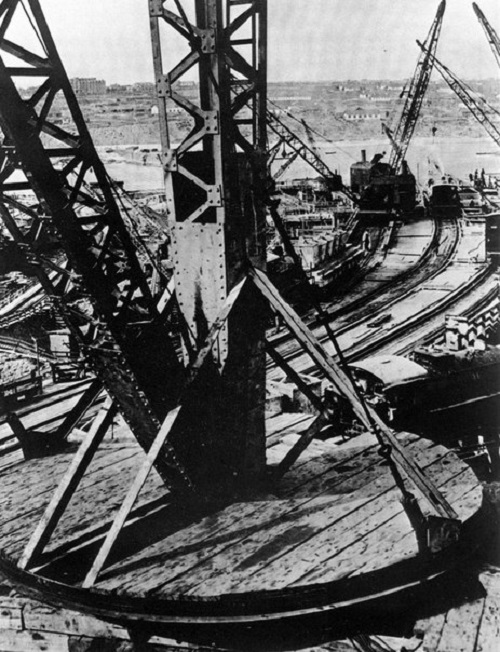 At the construction of Magnitka, 1933