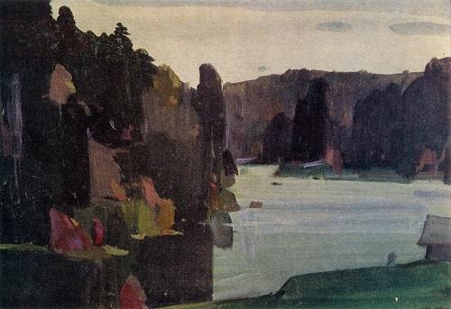 Autumn decor. 1957. Watercolor and gouache