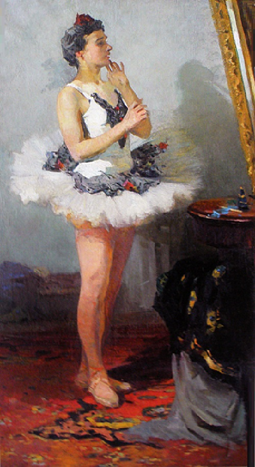 Ballerina in front of the mirror, 1954, oil on canvas
