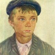 Boy in a cap. 1951