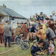 Election of Committee of the poor. 1939. The State Tretyakov Gallery, Moscow