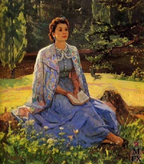 F. Reshetnikov portrait of his wife Lidiya Brodskaya