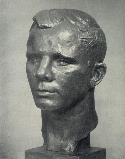 Soviet sculptor Gagarin. 1962. Bronze