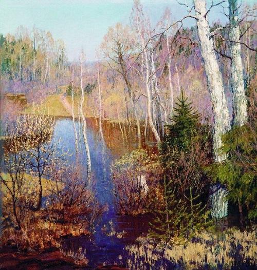 Soviet artist Lidiya Brodskaya. April. 1971. Oil
