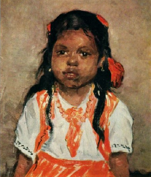 Little Chandra, 1957. Oil on canvas