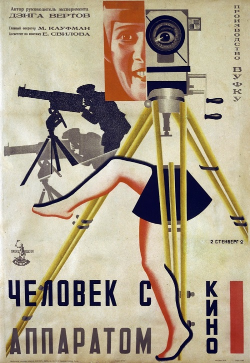 Early Soviet film posters. Man with a Movie Camera, 1929