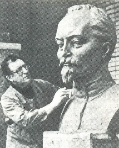 Monument to Felix Dzerzhinsky. Soviet sculptor Lev Kerbel