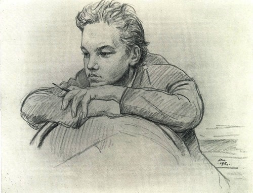 Nikolay Nikolaevich Zhukov (born 1908). A letter from brother (Young Vladimir Lenin). 1970. Pencil