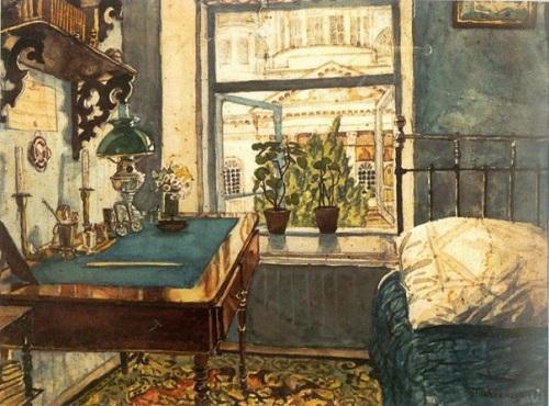 Painting by Nikolai Sokolov