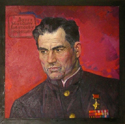 Portrait of Devyatayev. Oil on canvas. 1964 - 1971