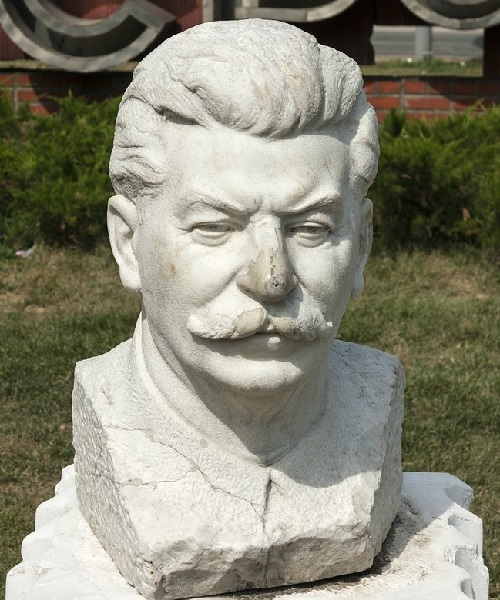 Portrait of Stalin, 1947. Marble