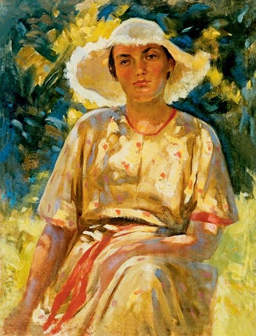 Portrait of artist's wife. Crimea. 1 January 1953
