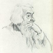 Sculptor Sergey Konenkov. 1950