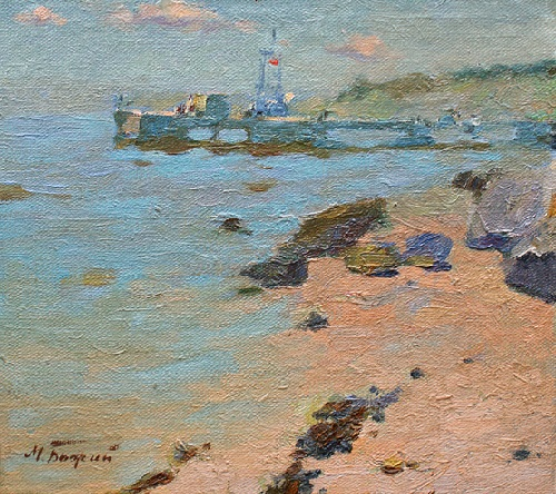 Seascape, 1960, oil on canvas