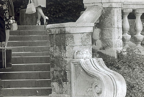 Staircase. Sevastopol, 1978. Soviet photographer Anatoly Boldin