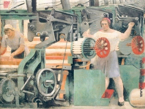 Textile workshop. 1929. Russian State Museum