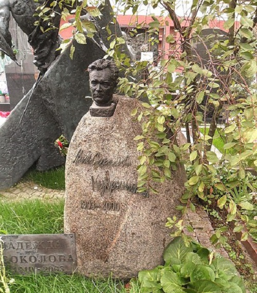 Tomb of Sokolov at Novodevichy Cemetery in Moscow