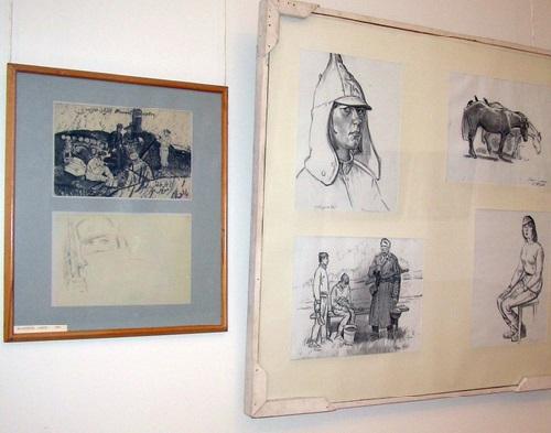 War time sketches by Soviet Tatar artist Haris Yakupov