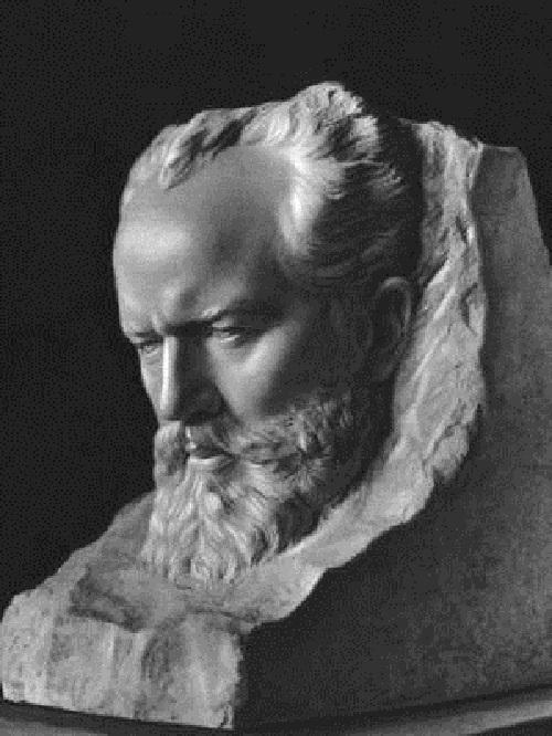 Portrait of Tchaikovsky. Marble. 1947. Tretyakov Gallery. Moscow. Soviet sculptor Zinovy Vilensky