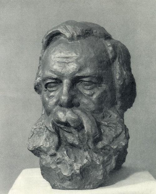 Soviet sculptor Zinovy Vilensky (1899-1984). Friedrich Engels. 1971. Bronze