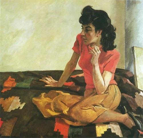 A. Deineka. Portrait of Mirel Shaginyan, 1944
