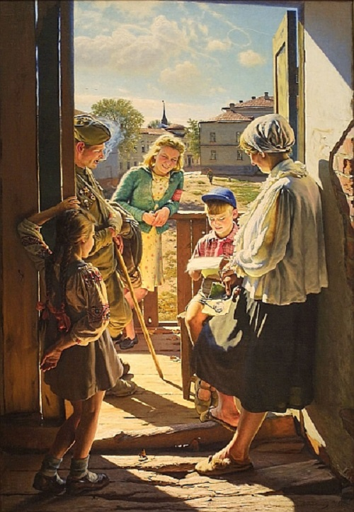 Soviet artist Alexander Laktionov. Letter from the front, 1947