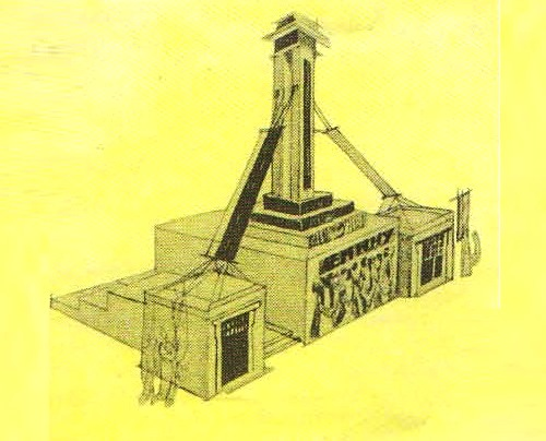 A. Shchusev. Draft of a temporary Lenin Mausoleum on Red Square. 1924