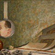 A. Shenderov (1897-1967). Self-portrait in a mirror (Still Life with Mirror). 1936