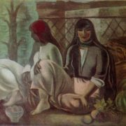 A.V. Shevchenko (1882-1948). The collective farmers are waiting for the train. 1933. Oil on canvas. Tretyakov Gallery
