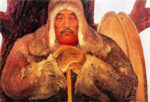 AN Osipov. Taiga men. The central part of the triptych In The Land Of Their Ancestors. 1969