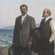 Alexandr Nazarenko. Lenin and Gorky on Capri. 1983. Oil on canvas
