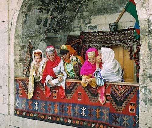 Azerbaijan SSR women in national costumes