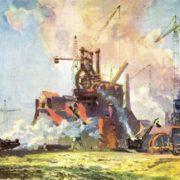 B. Rapoport. Construction of the Komsomol blast furnace