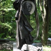 Composer Vasily Pavlovich Soloviev-Sedoy (1907-1979). Sculptural composition with a portrait. 1985