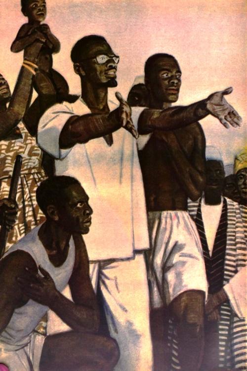 Soviet artist Dementy Shmarinov. Morning of Africa. Patrice Lumumba