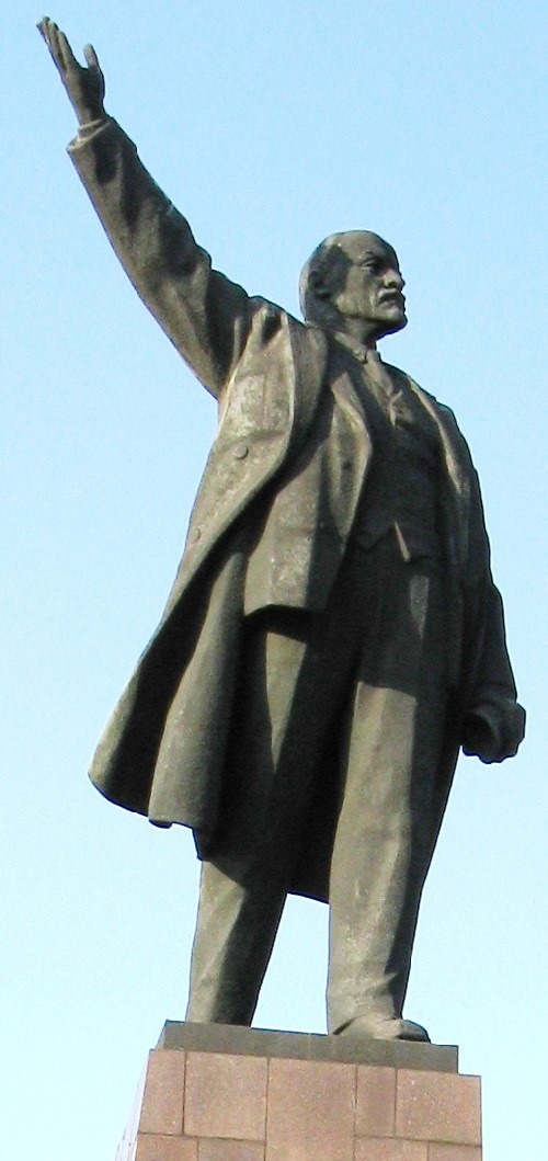 Work by Soviet sculptor Mikhail Lysenko. Established in 1964 monument to Lenin was demolished after the coup in Ukraine in 2016