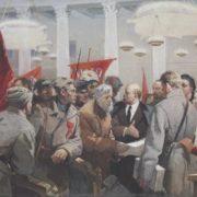 Evgeny Levin. Lenin in Smolny. 1978. Oil on canvas
