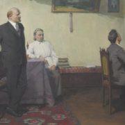 Evgeny Samusev. Lenin and Krupskaya listening to the piano. 1968-1970