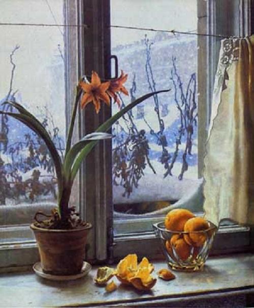 February 1956. Soviet artist Alexander Laktionov