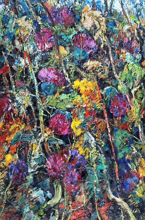 Flowers, 1970. Oil
