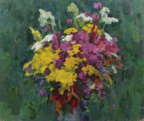 Flowers. Oil on canvas